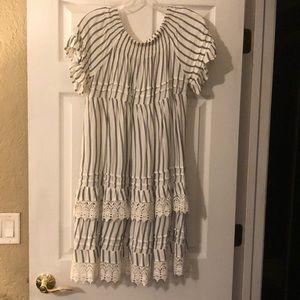 Surf Gypsy Striped Lace Dress